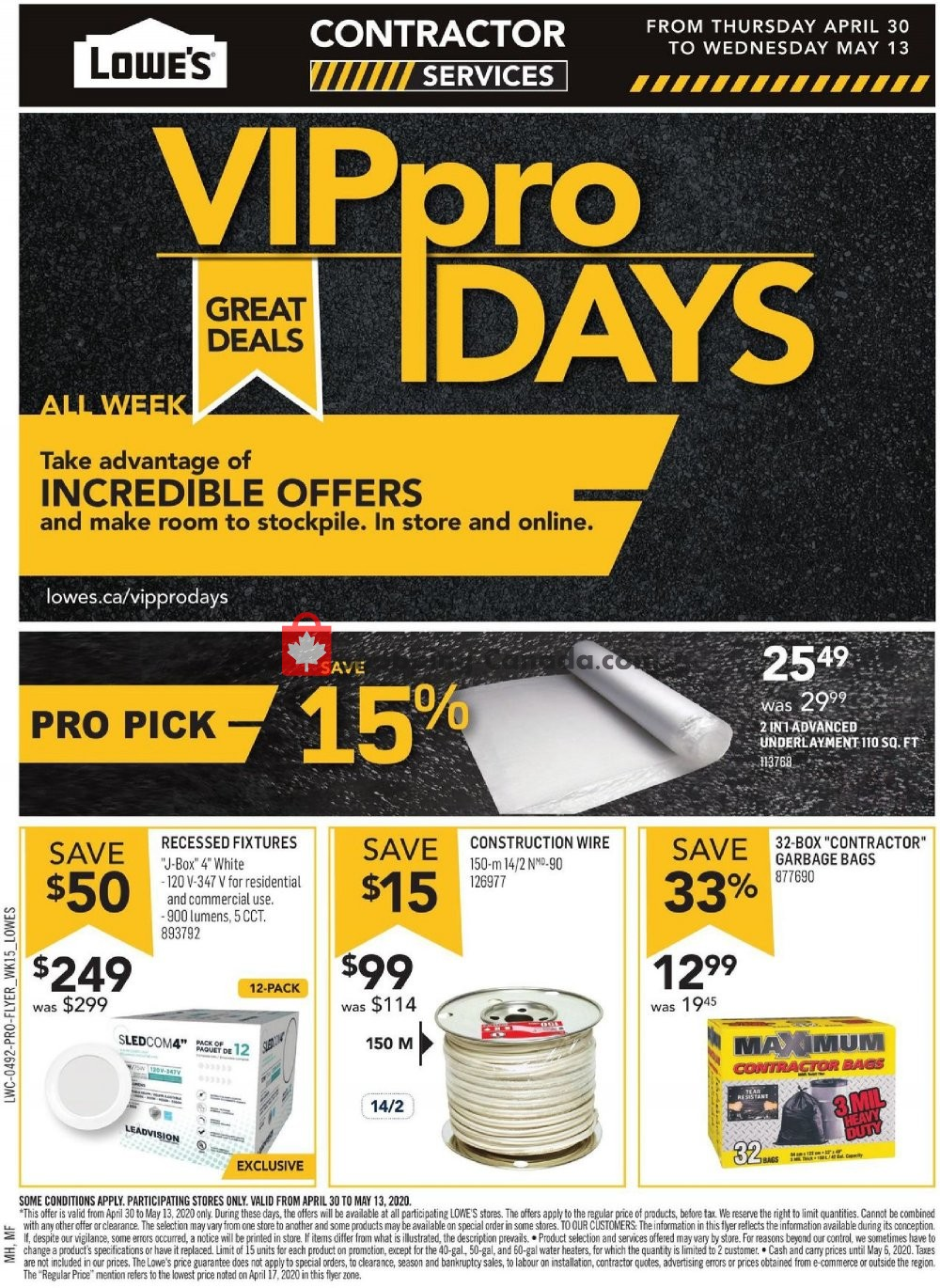 Flyer Lowe's Canada - from Thursday April 30, 2020 to Wednesday May 13, 2020