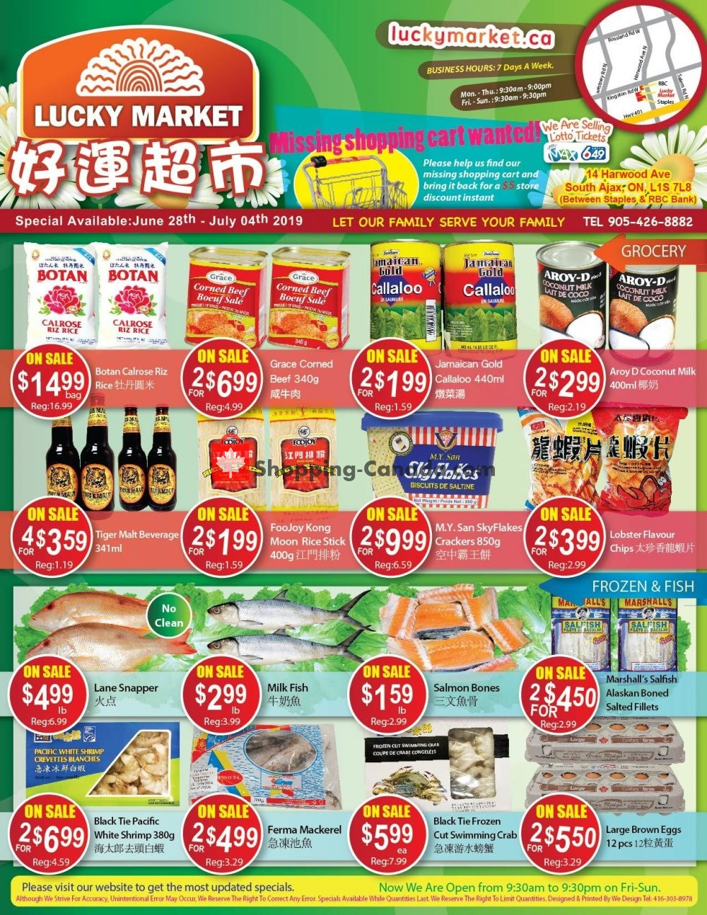 Flyer Lucky Market Canada - from Friday June 28, 2019 to Thursday July 4, 2019