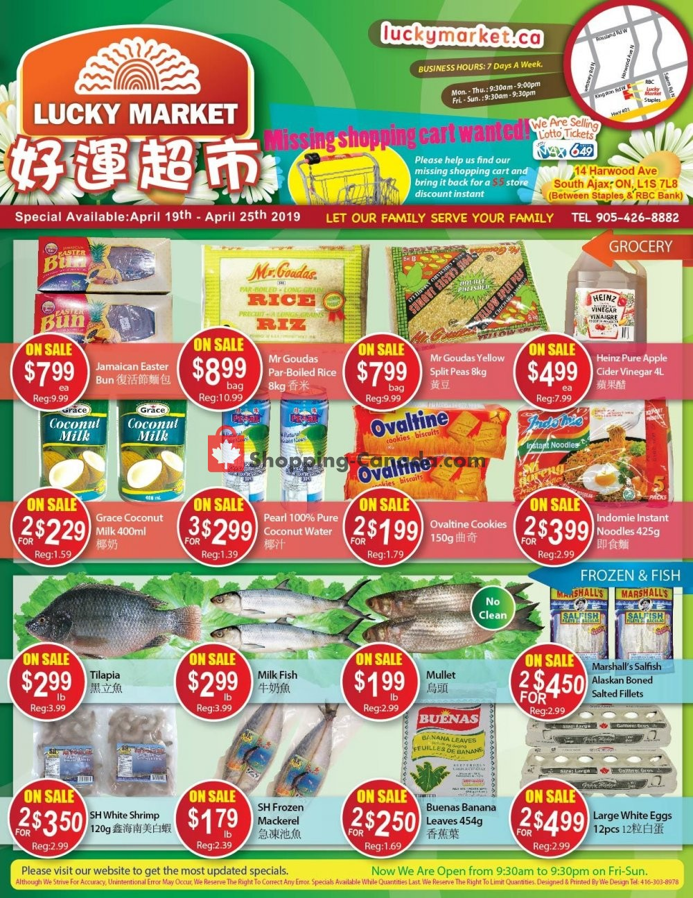 Flyer Lucky Market Canada - from Friday April 19, 2019 to Thursday April 25, 2019