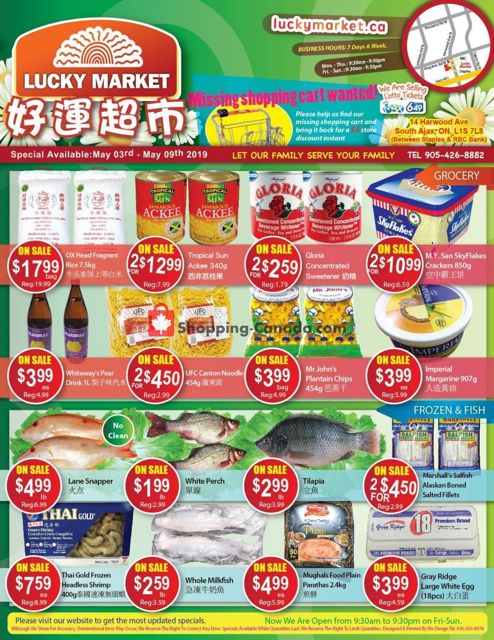 Flyer Lucky Market Canada - from Friday May 3, 2019 to Thursday May 9, 2019
