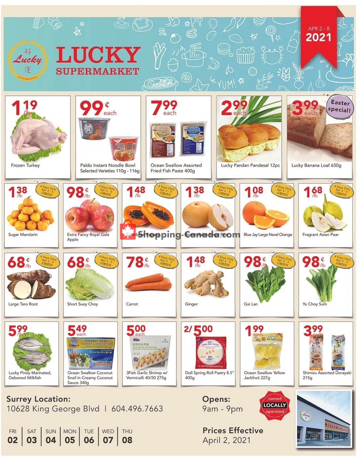 Flyer Lucky Supermarket Canada - from Friday April 2, 2021 to Thursday April 8, 2021