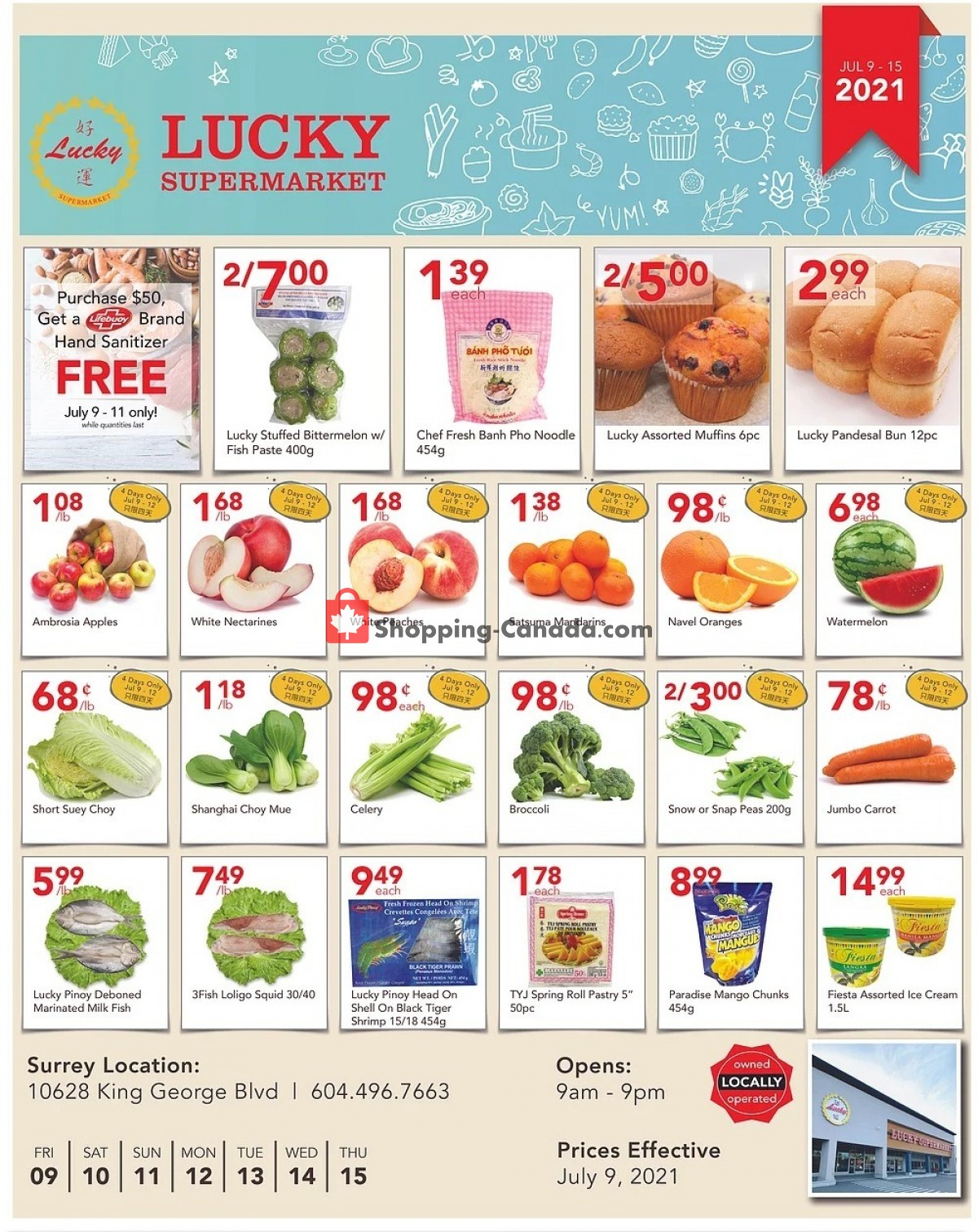 Flyer Lucky Supermarket Canada - from Friday July 9, 2021 to Thursday July 15, 2021