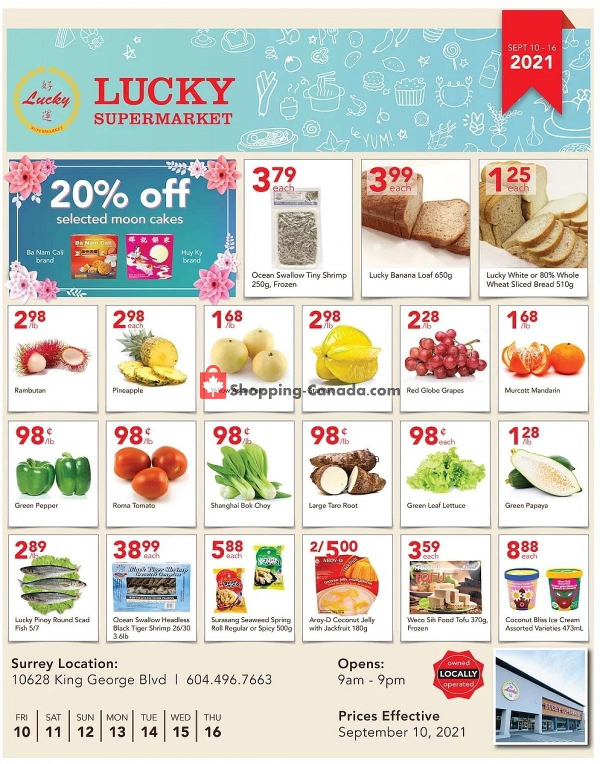 Flyer Lucky Supermarket Canada - from Friday September 10, 2021 to Thursday September 16, 2021