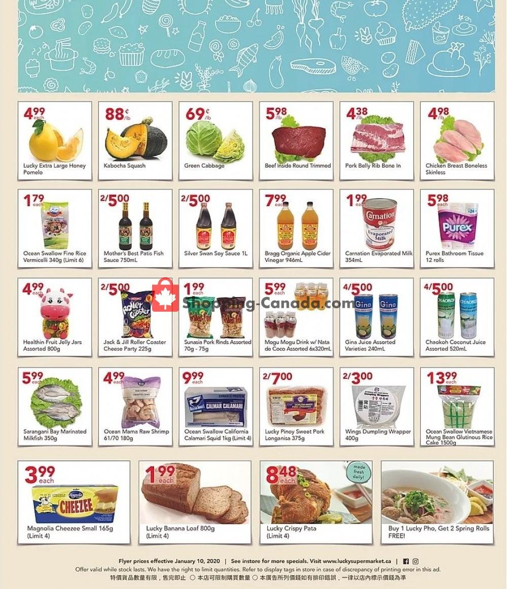 Flyer Lucky Supermarket Canada - from Friday January 10, 2020 to Thursday January 16, 2020