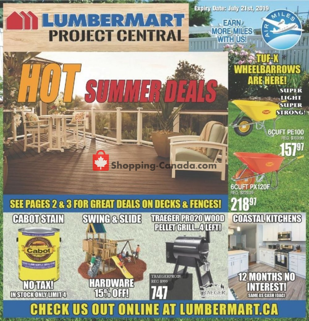 Flyer Lumber Mart Canada - from Wednesday July 10, 2019 to Friday July 26, 2019