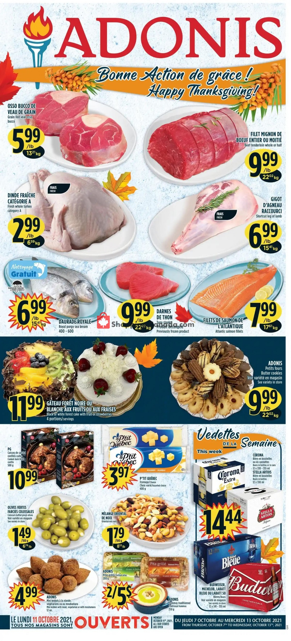 Flyer Marché Adonis Canada - from Thursday October 7, 2021 to Wednesday October 13, 2021
