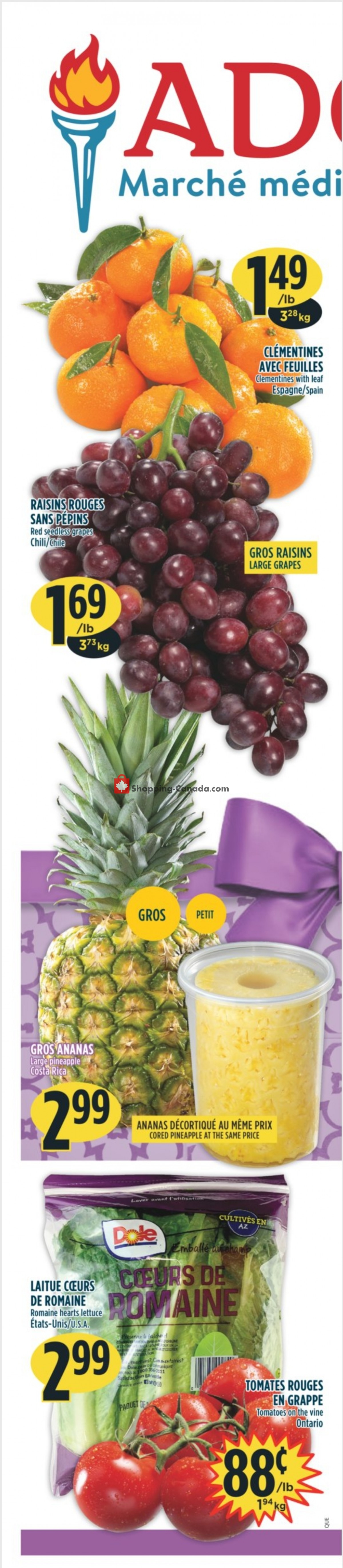 Flyer Marché Adonis Canada - from Thursday April 1, 2021 to Wednesday April 7, 2021