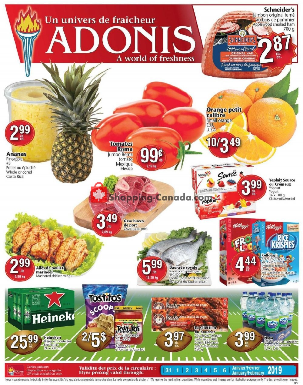 Flyer Marché Adonis Canada - from Thursday January 31, 2019 to Wednesday February 6, 2019