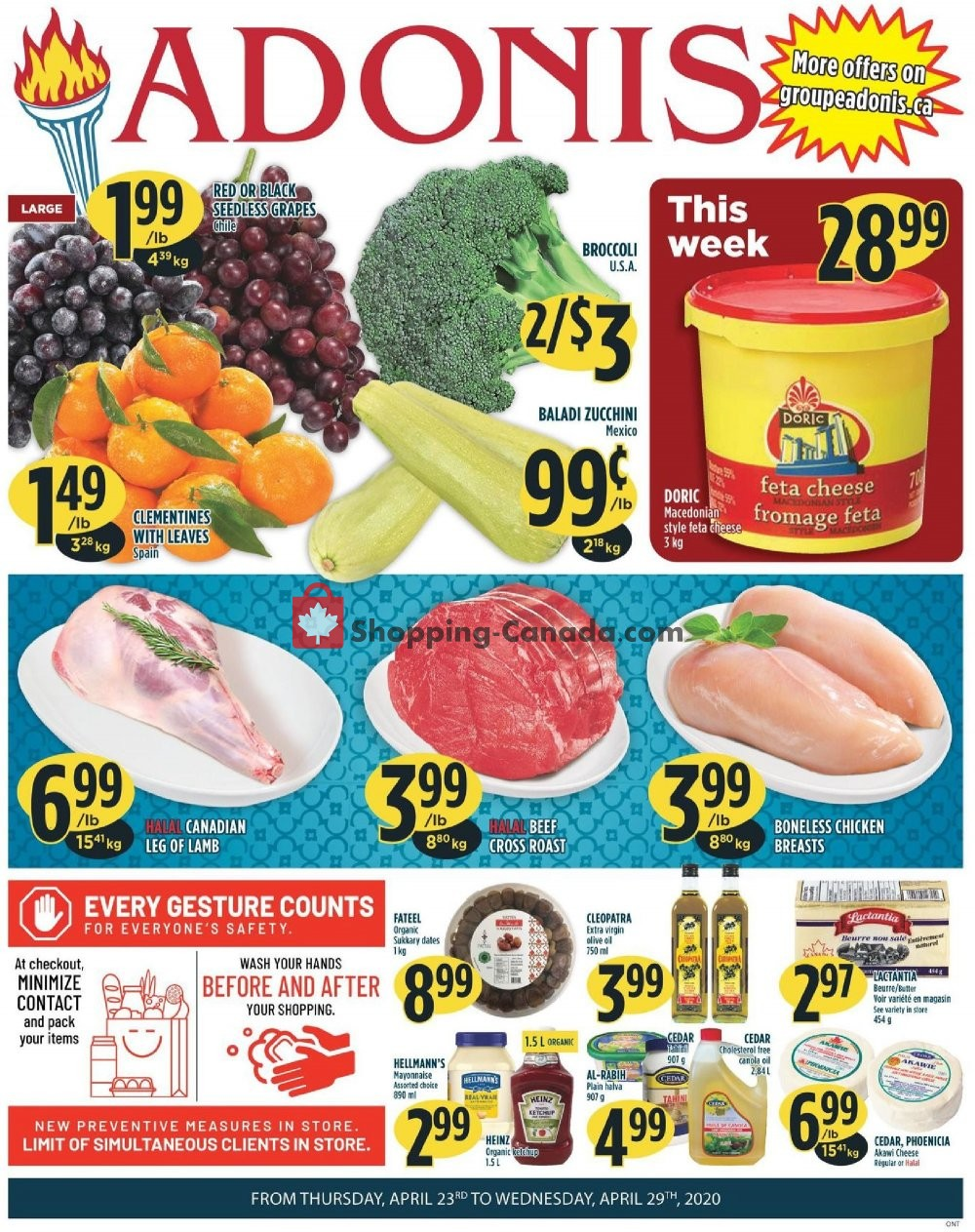 Flyer Marché Adonis Canada - from Thursday April 23, 2020 to Wednesday April 29, 2020