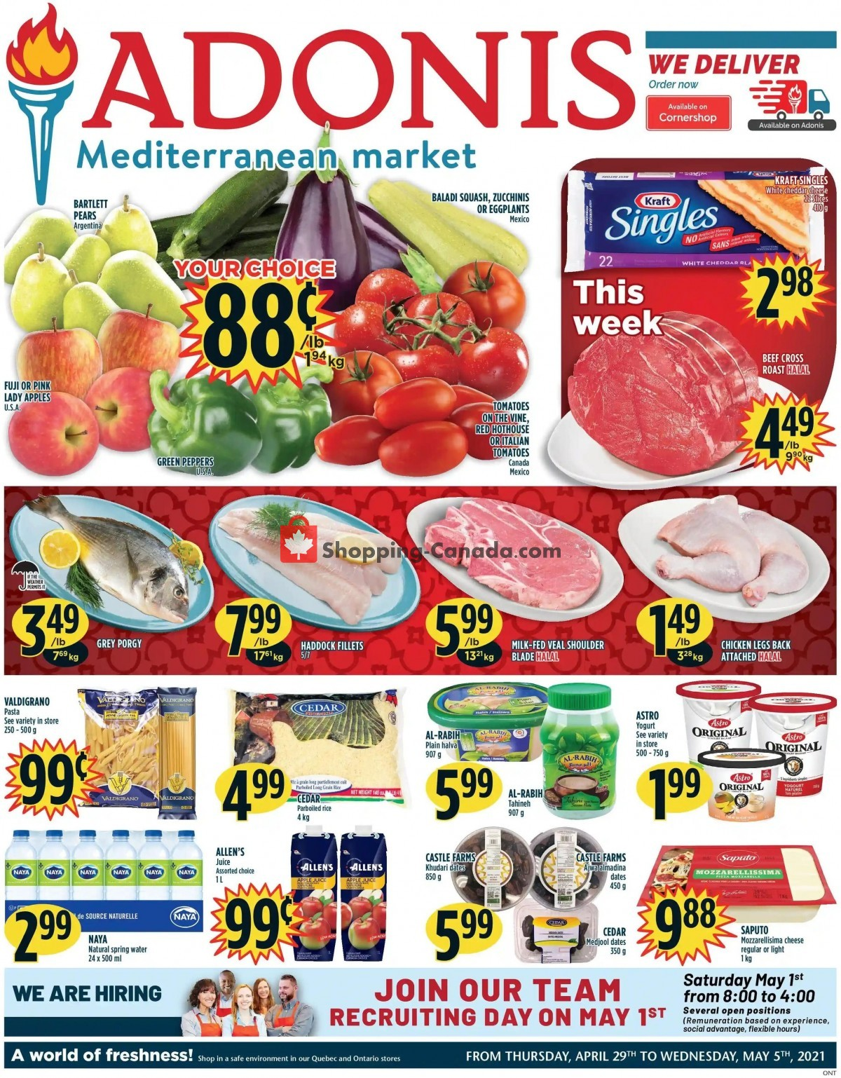 Flyer Marché Adonis Canada - from Thursday April 29, 2021 to Wednesday May 5, 2021