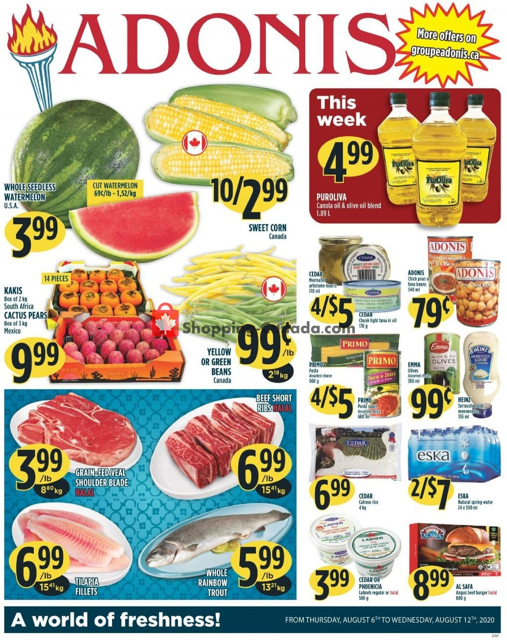 Flyer Marché Adonis Canada - from Thursday August 6, 2020 to Wednesday August 12, 2020