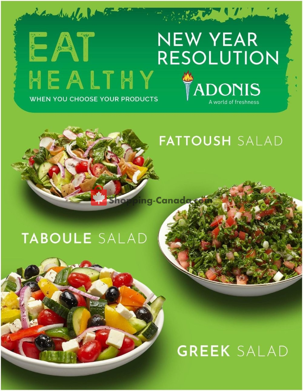 Flyer Marché Adonis Canada - from Thursday January 16, 2020 to Wednesday January 22, 2020