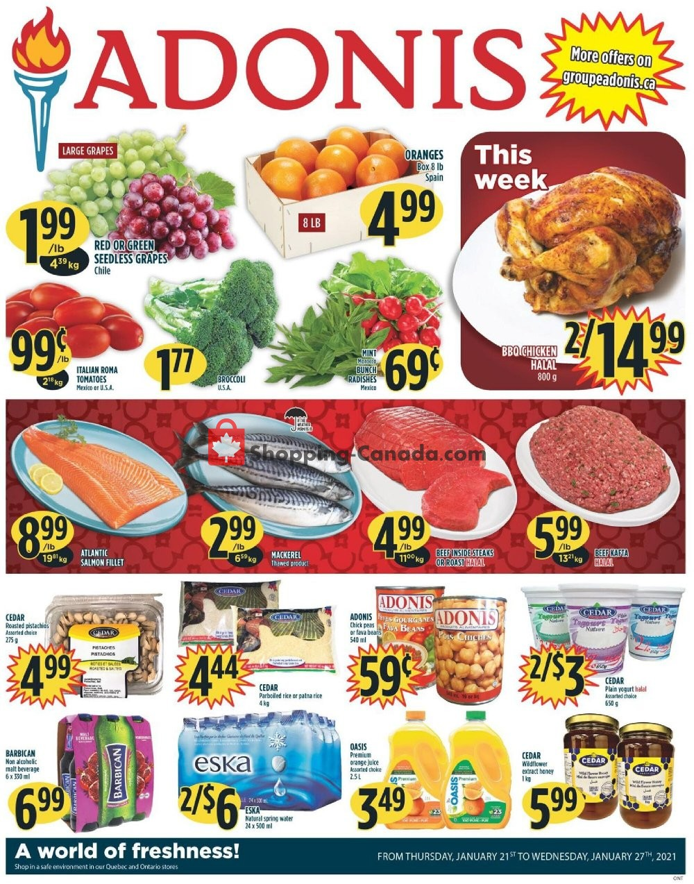 Flyer Marché Adonis Canada - from Thursday January 21, 2021 to Wednesday January 27, 2021