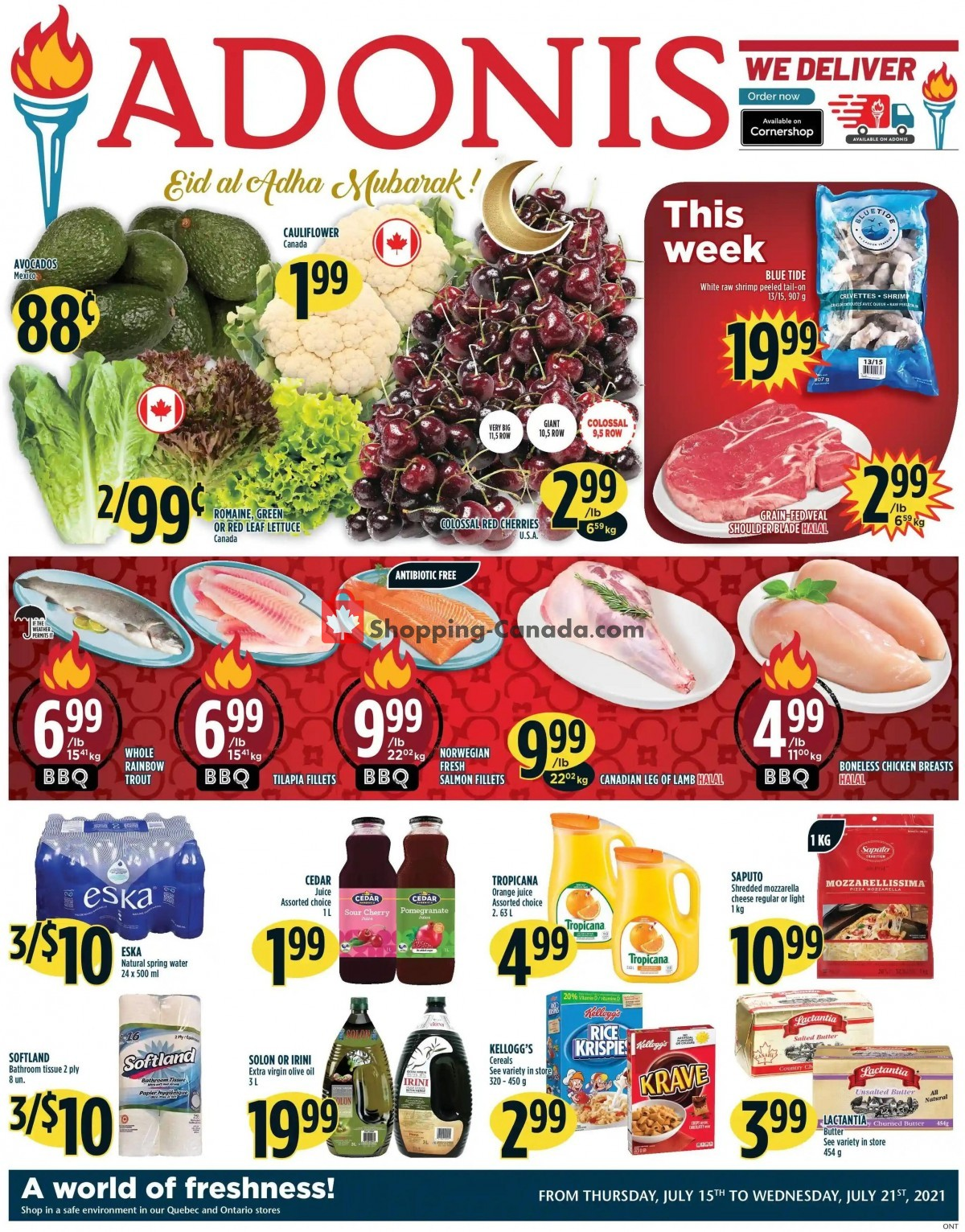 Flyer Marché Adonis Canada - from Wednesday July 14, 2021 to Wednesday July 21, 2021