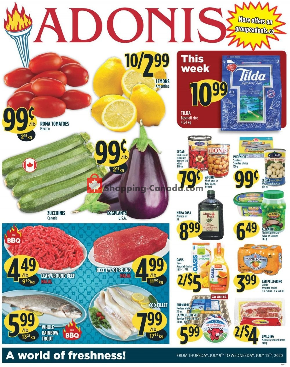 Flyer Marché Adonis Canada - from Thursday July 9, 2020 to Wednesday July 15, 2020