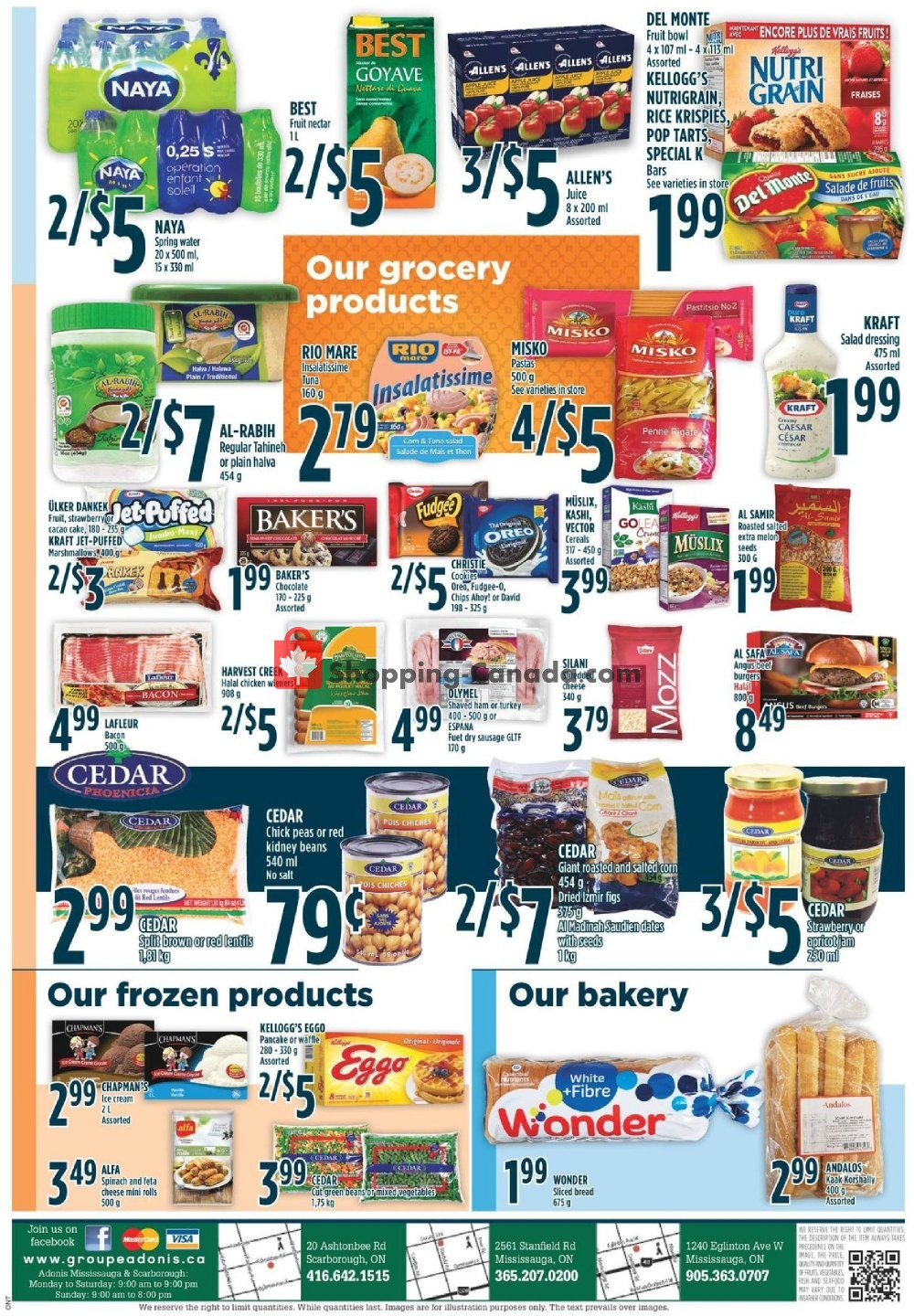 Flyer Marché Adonis Canada - from Thursday November 7, 2019 to Wednesday November 13, 2019