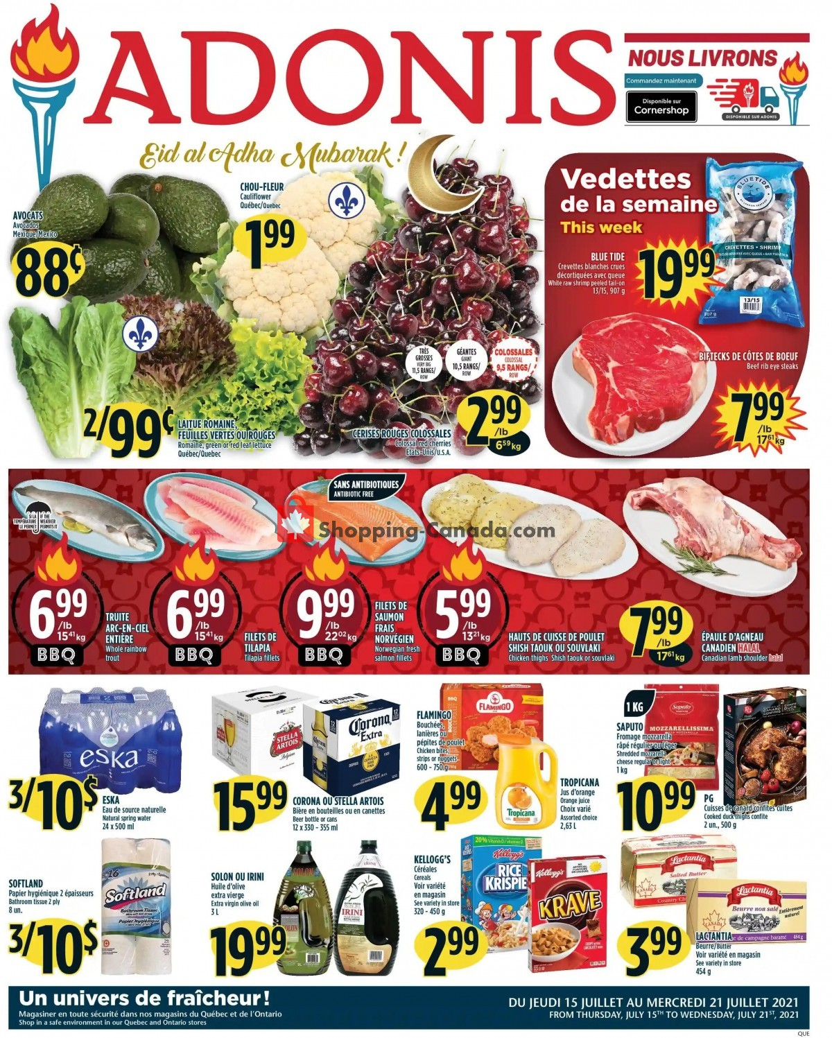 Flyer Marché Adonis Canada - from Thursday July 15, 2021 to Wednesday July 21, 2021