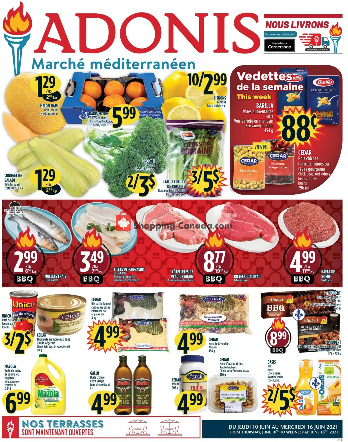 Flyer Marché Adonis Canada - from Thursday June 10, 2021 to Wednesday June 16, 2021