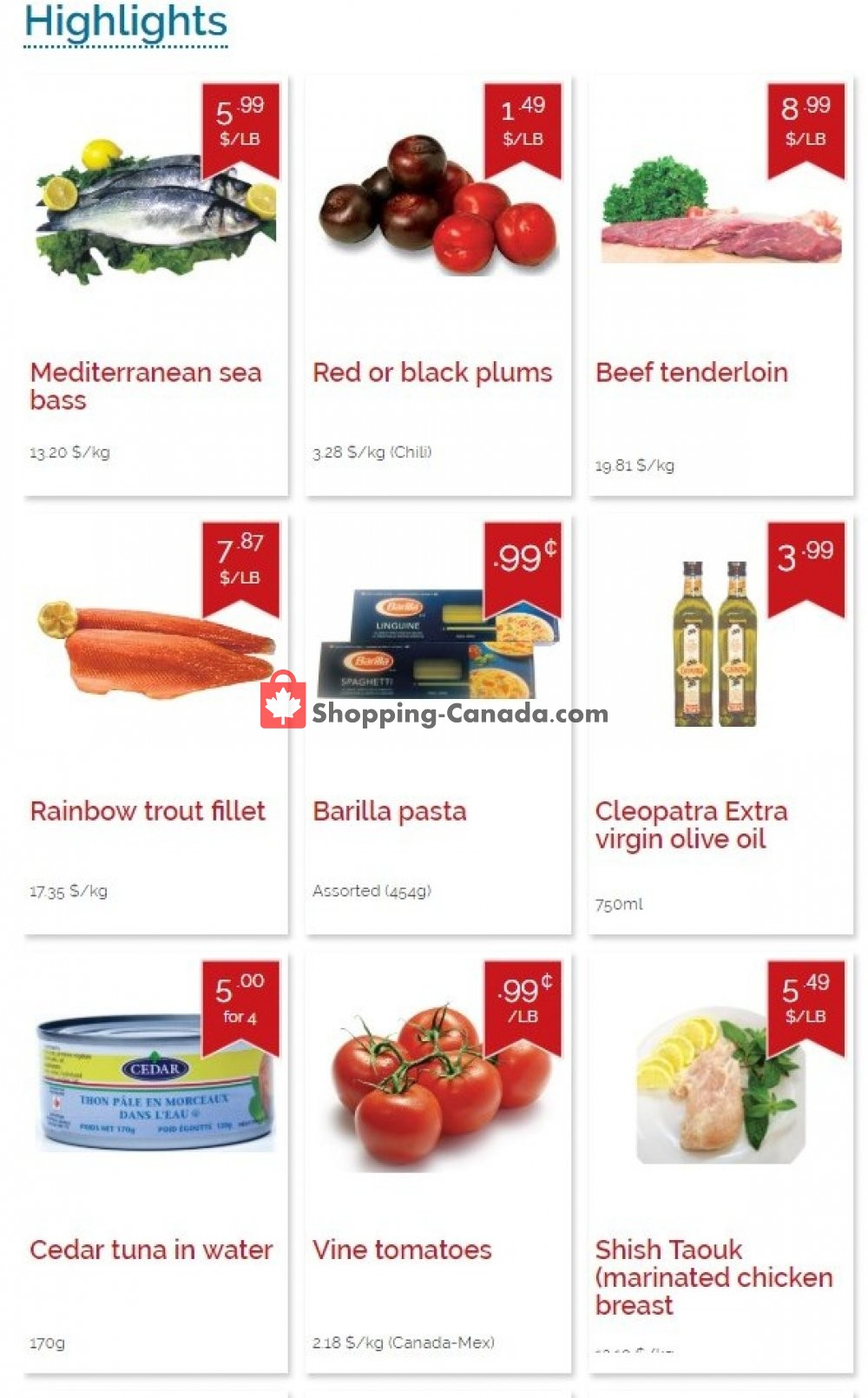 Flyer Marché Adonis Canada - from Thursday March 14, 2019 to Wednesday March 20, 2019