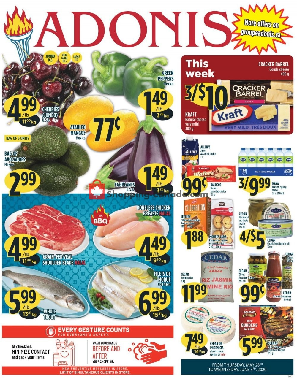 Flyer Marché Adonis Canada - from Thursday May 28, 2020 to Wednesday June 3, 2020