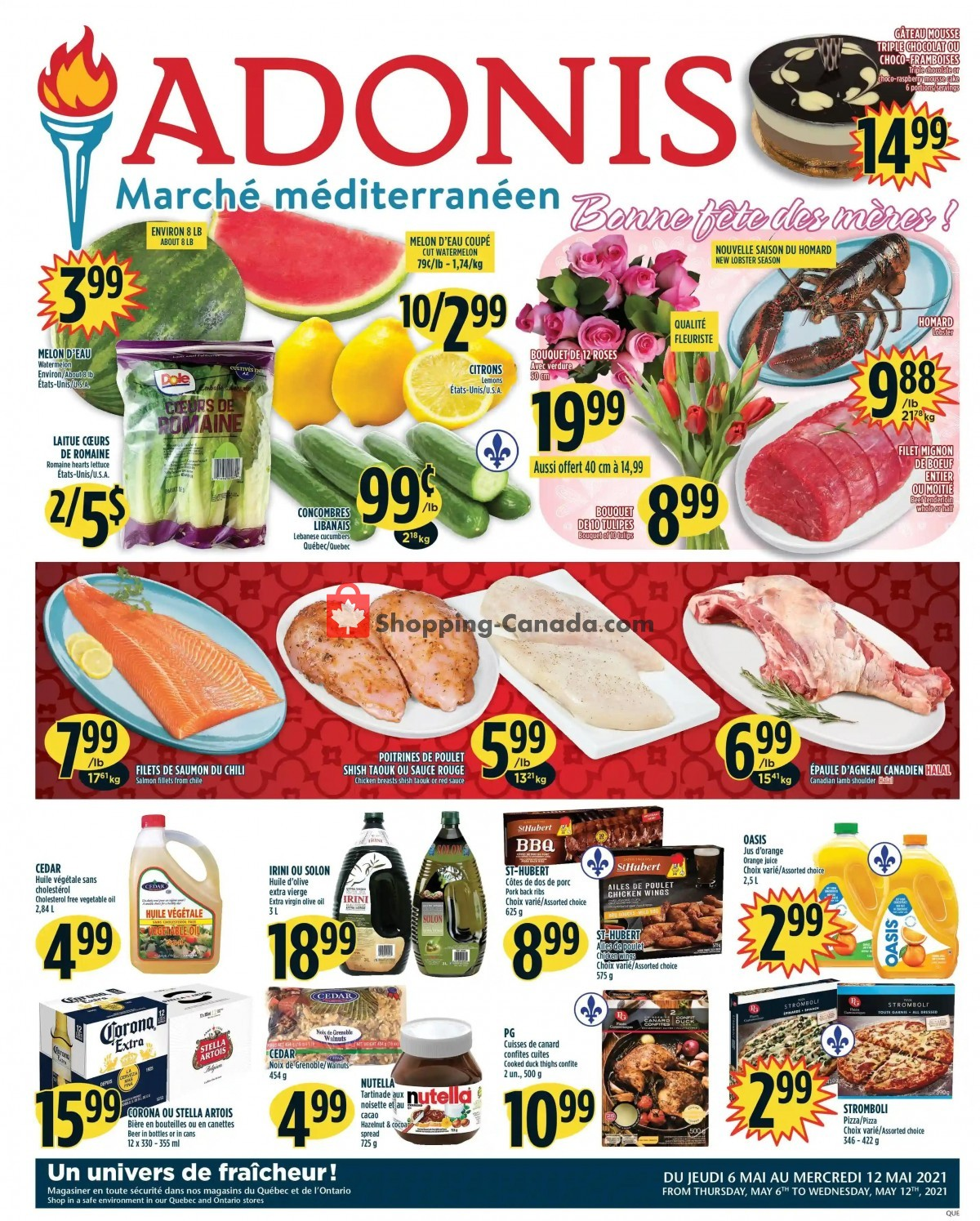 Flyer Marché Adonis Canada - from Thursday May 6, 2021 to Wednesday May 12, 2021
