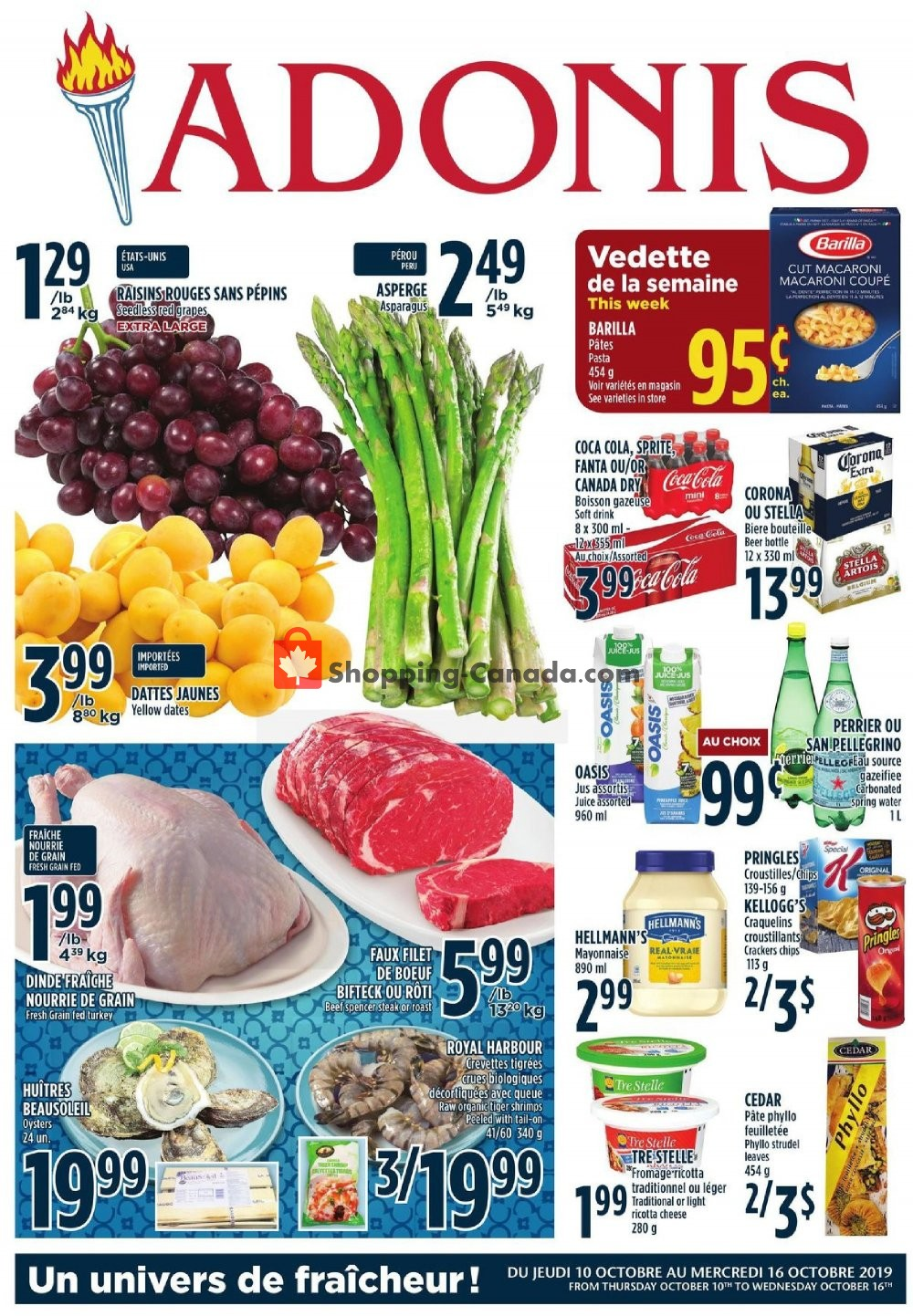 Flyer Marché Adonis Canada - from Thursday October 10, 2019 to Wednesday October 16, 2019