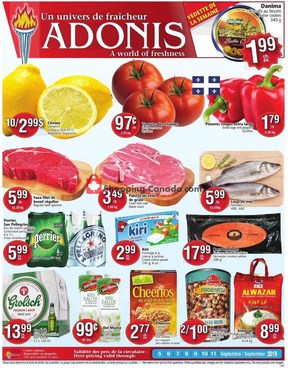 Flyer Marché Adonis Canada - from Thursday September 5, 2019 to Wednesday September 11, 2019