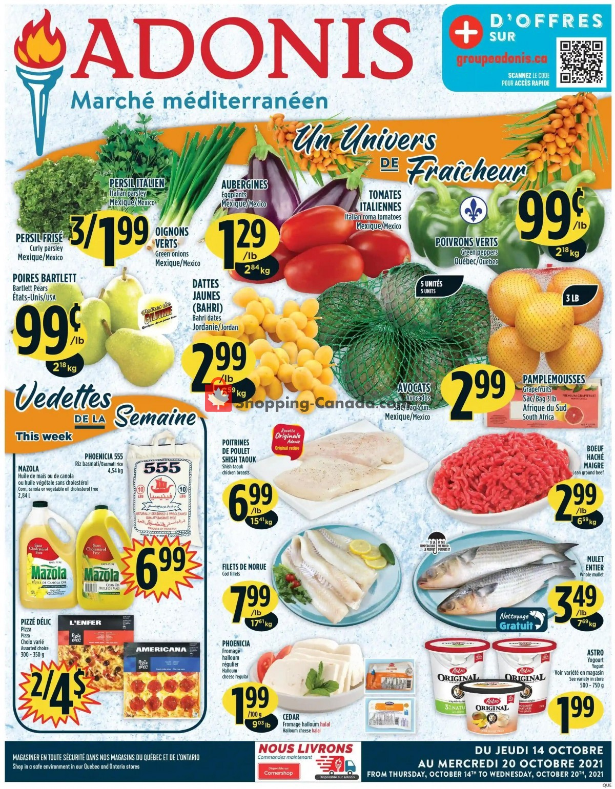 Flyer Marché Adonis Canada - from Thursday October 14, 2021 to Wednesday October 20, 2021