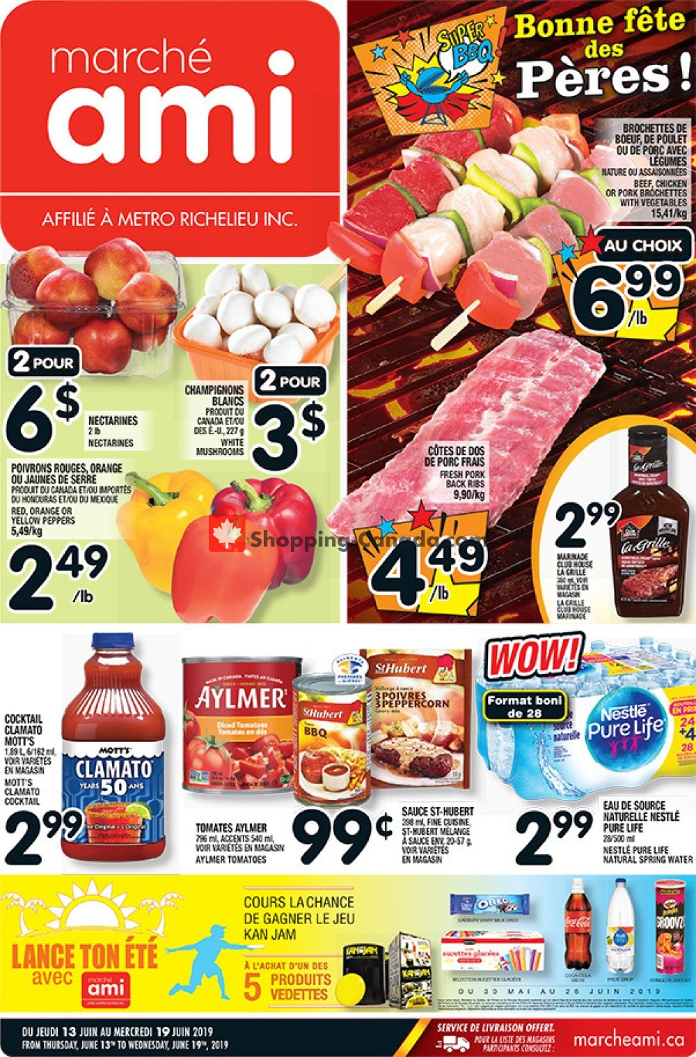 Flyer Marche Ami Canada - from Thursday June 13, 2019 to Wednesday June 19, 2019