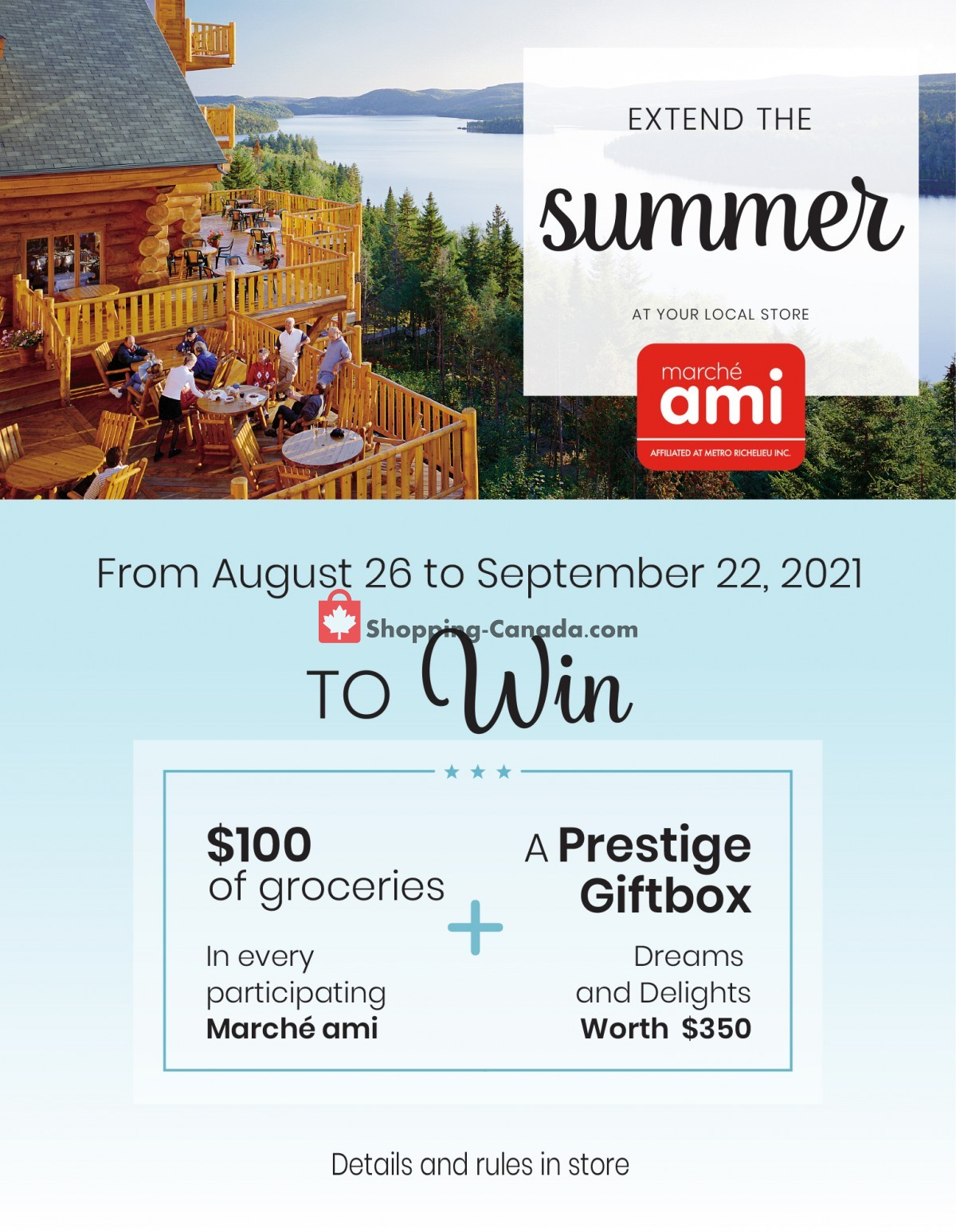 Flyer Marche Ami Canada - from Thursday August 26, 2021 to Wednesday September 22, 2021