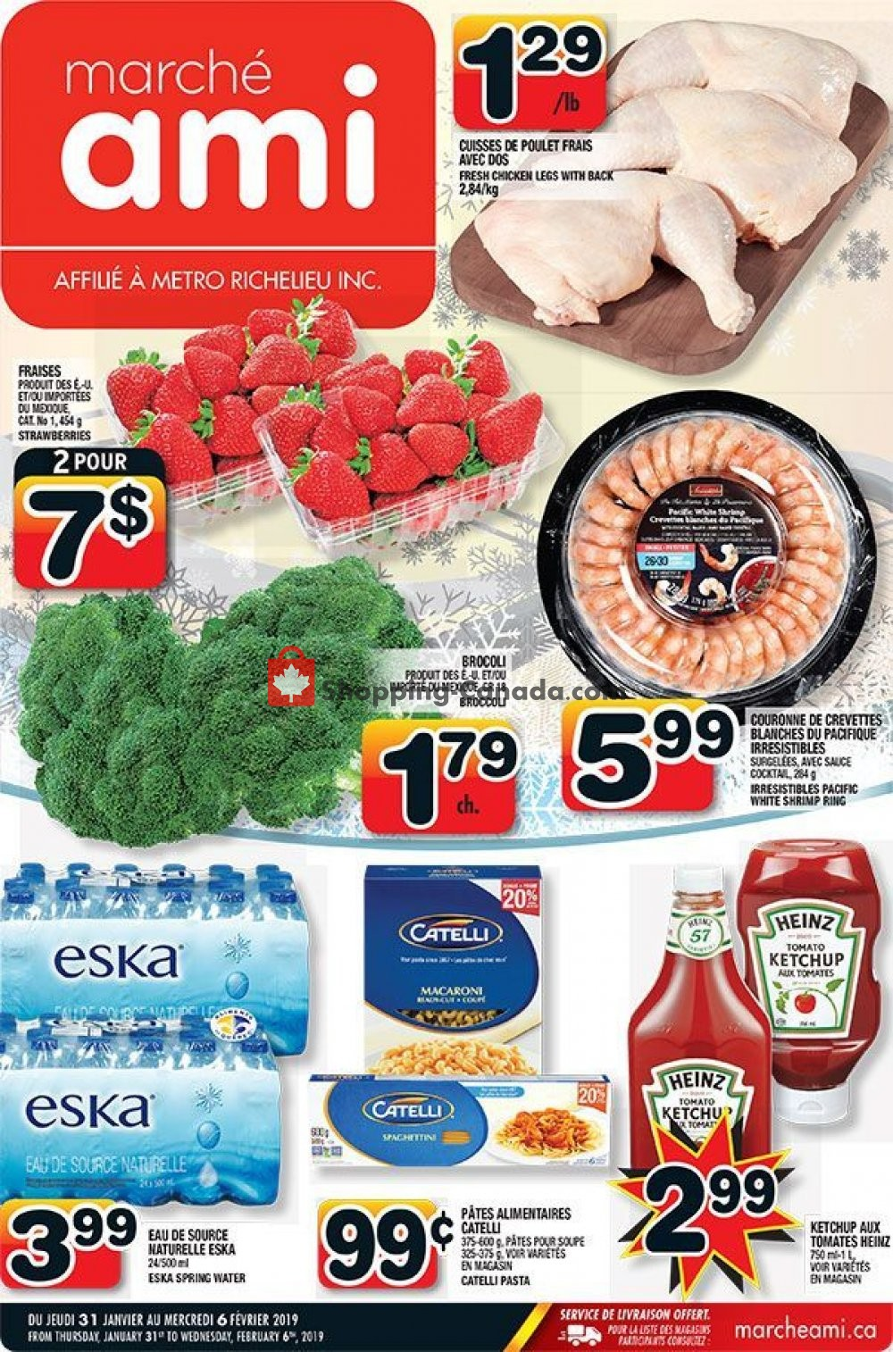 Flyer Marche Ami Canada - from Thursday January 31, 2019 to Wednesday February 6, 2019