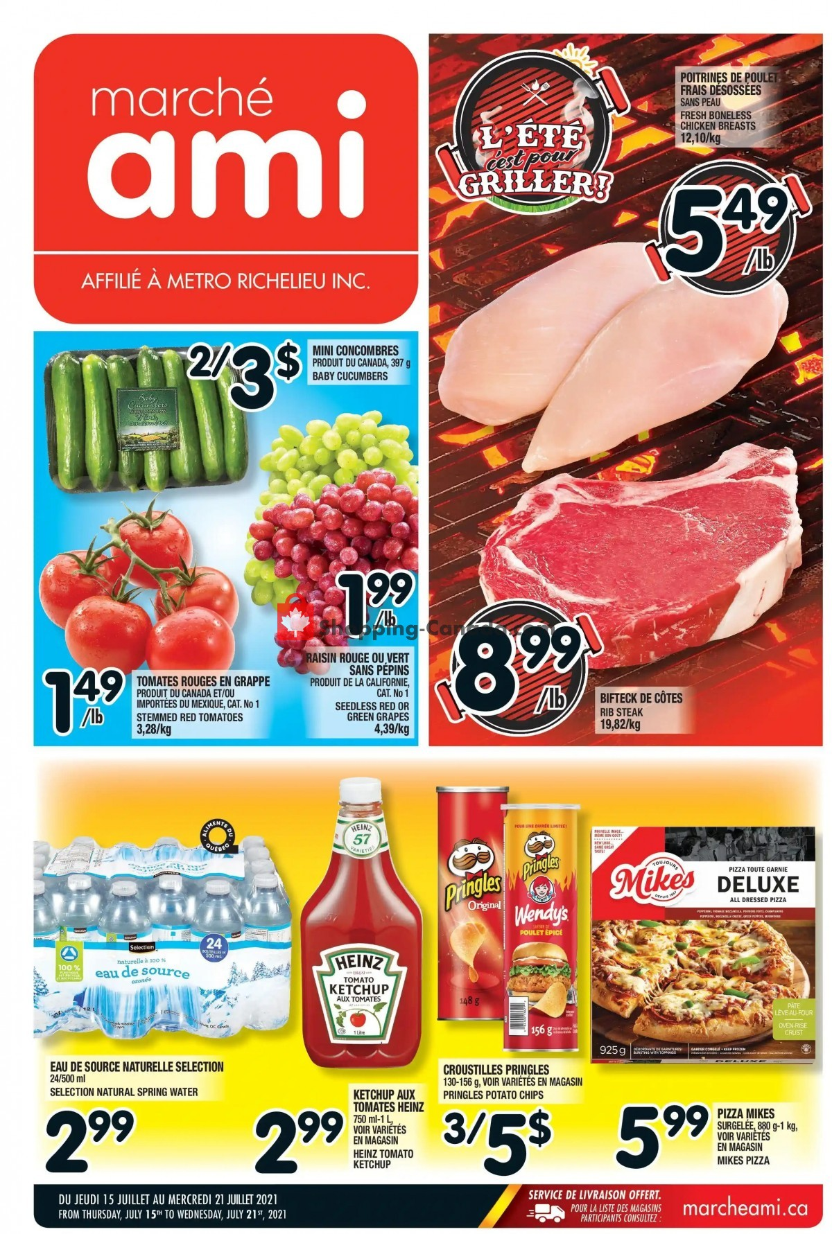 Flyer Marche Ami Canada - from Thursday July 15, 2021 to Wednesday July 21, 2021
