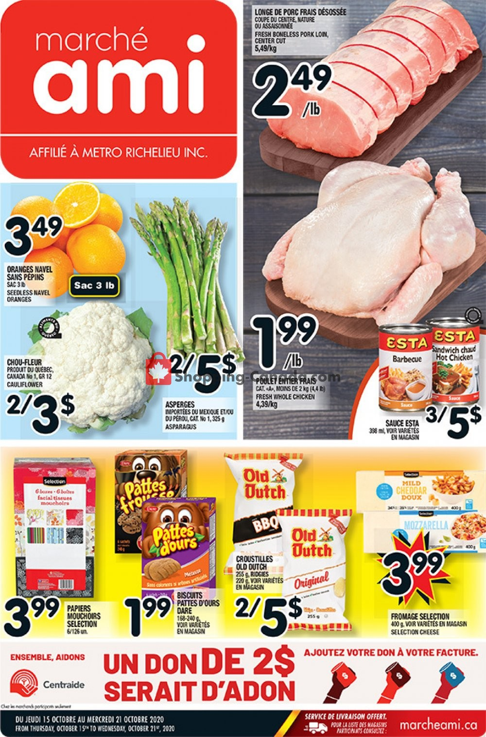 Flyer Marche Ami Canada - from Thursday October 15, 2020 to Wednesday October 21, 2020