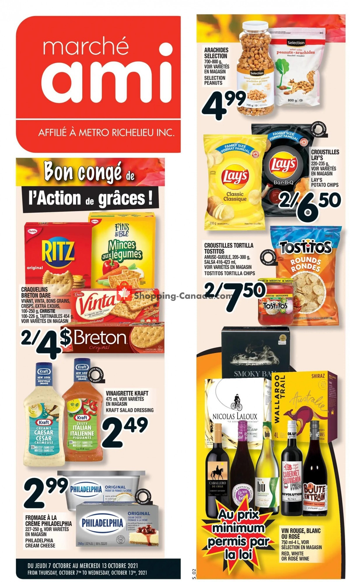 Flyer Marche Ami Canada - from Thursday October 7, 2021 to Wednesday October 13, 2021