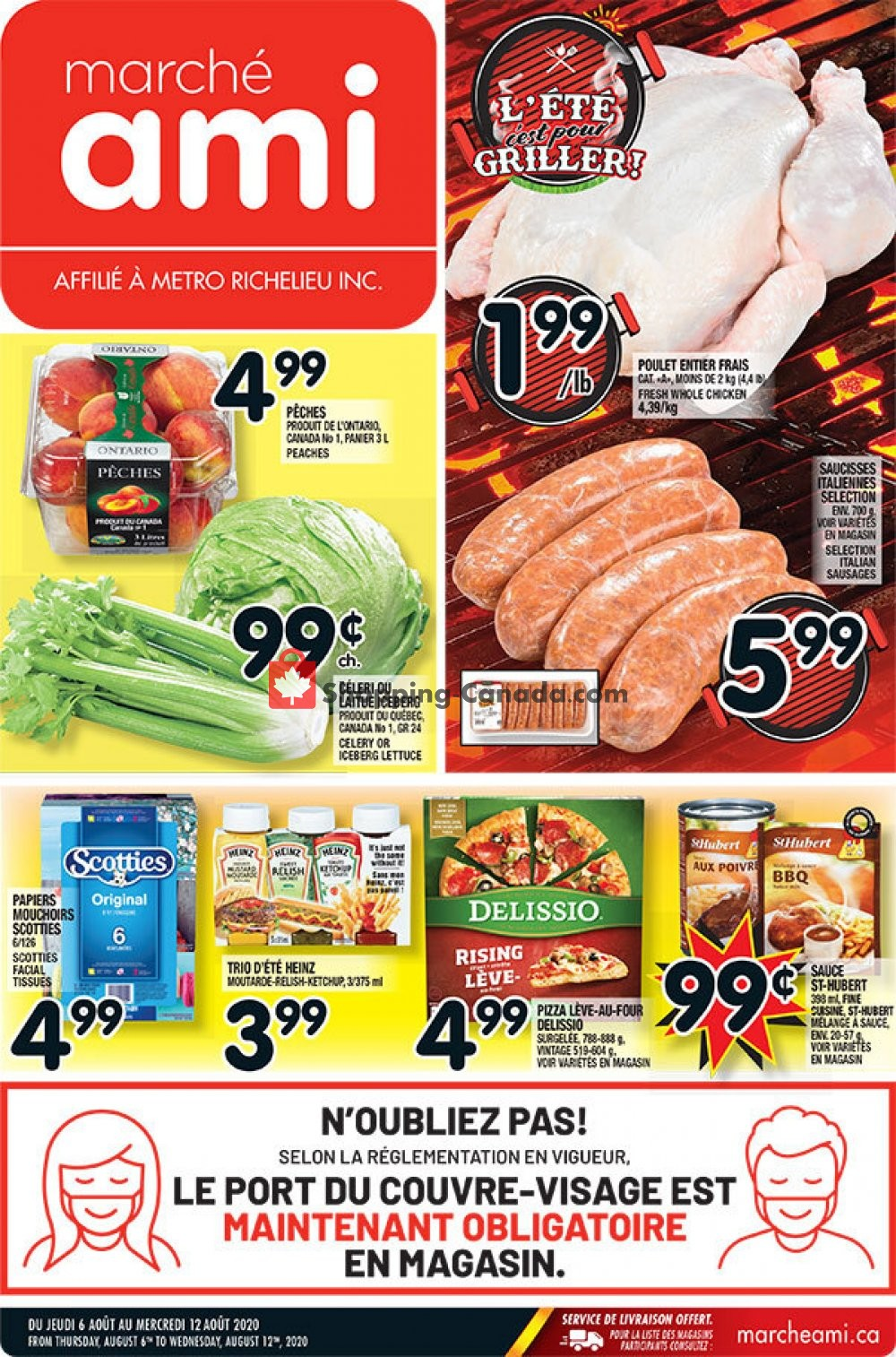 Flyer Marche Ami Canada - from Thursday August 6, 2020 to Wednesday August 12, 2020