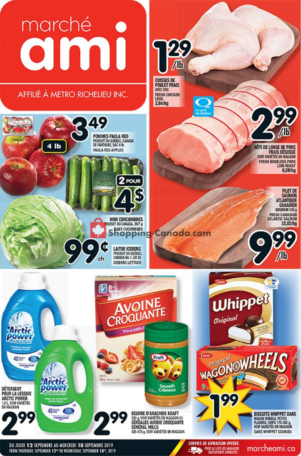 Flyer Marche Ami Canada - from Thursday September 12, 2019 to Wednesday September 18, 2019