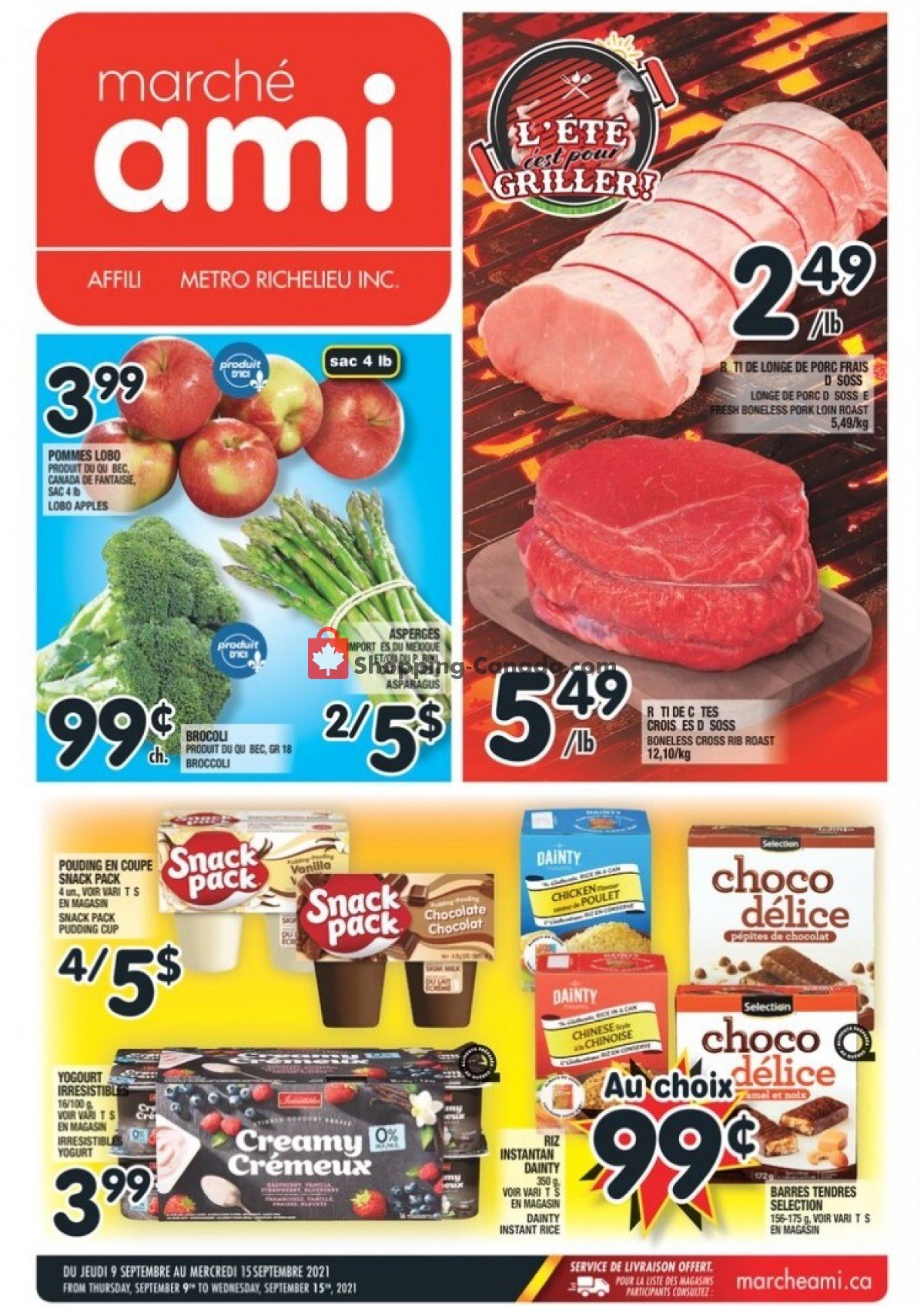 Flyer Marche Ami Canada - from Thursday September 9, 2021 to Wednesday September 15, 2021
