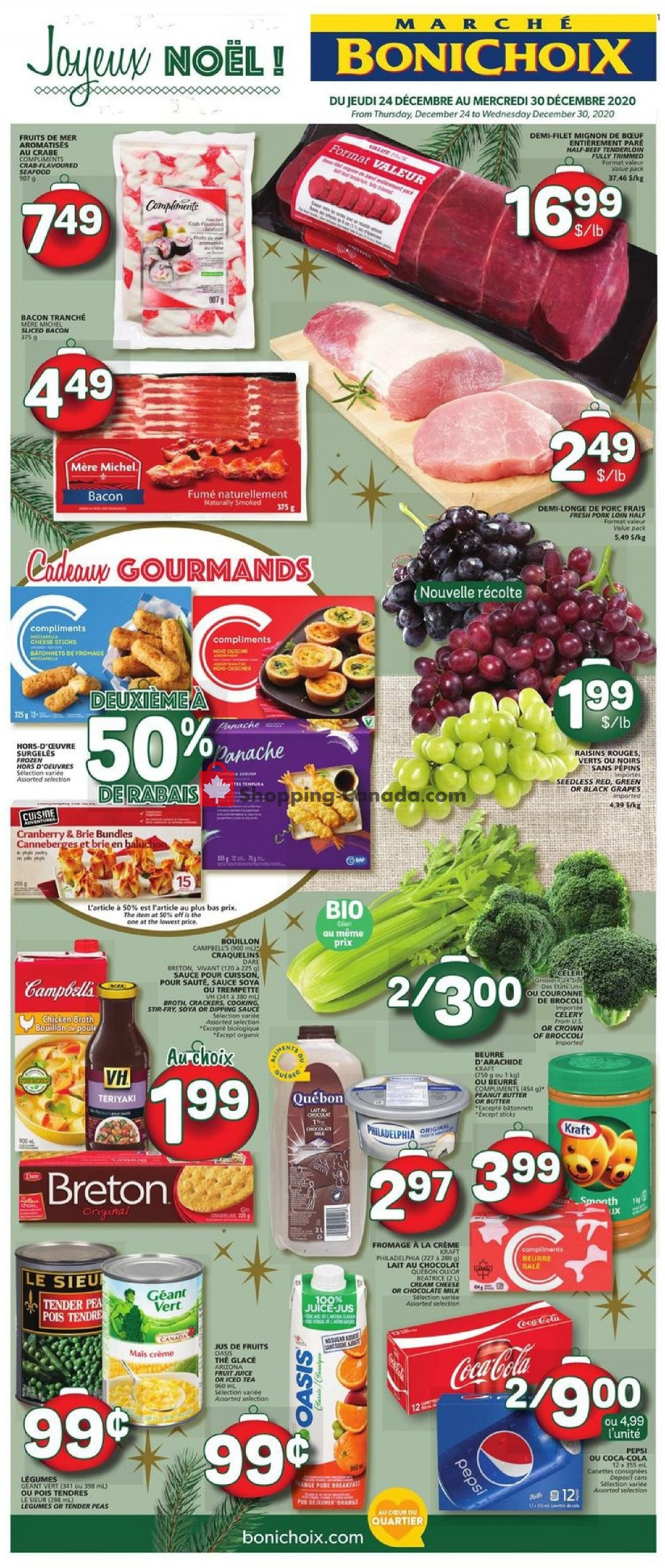 Flyer Marche Bonichoix Canada - from Thursday December 24, 2020 to Wednesday December 30, 2020