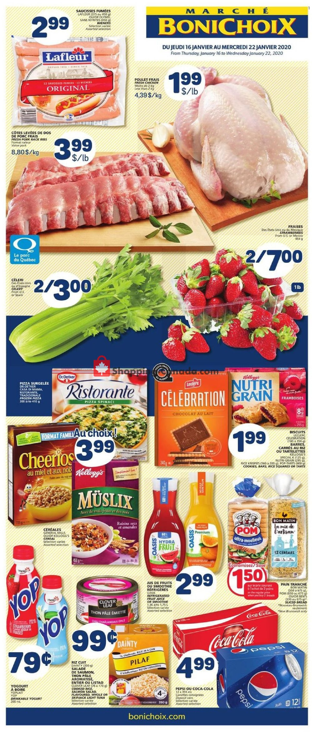 Flyer Marche Bonichoix Canada - from Thursday January 16, 2020 to Wednesday January 22, 2020