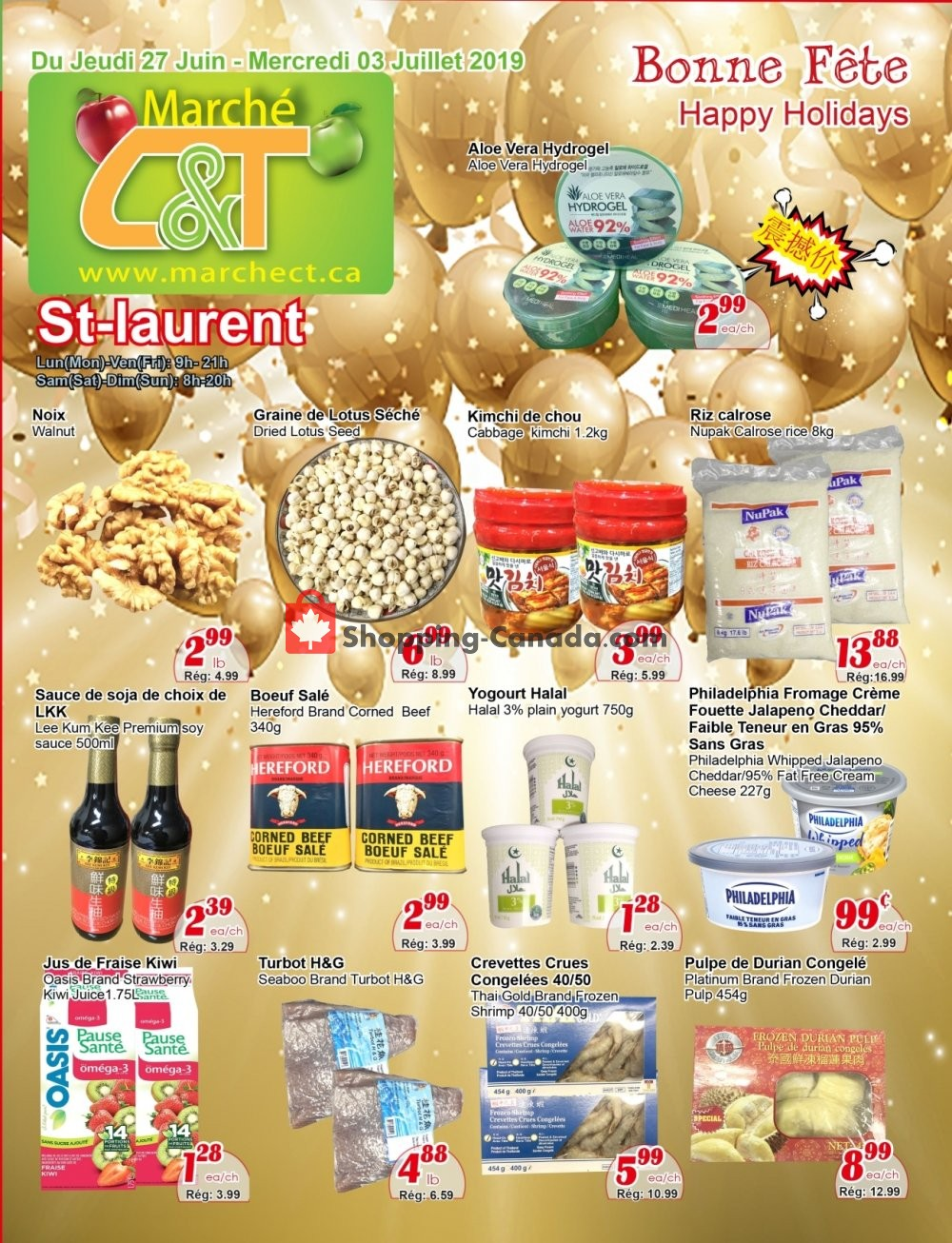 Flyer Marche C&T Canada - from Thursday June 27, 2019 to Wednesday July 3, 2019