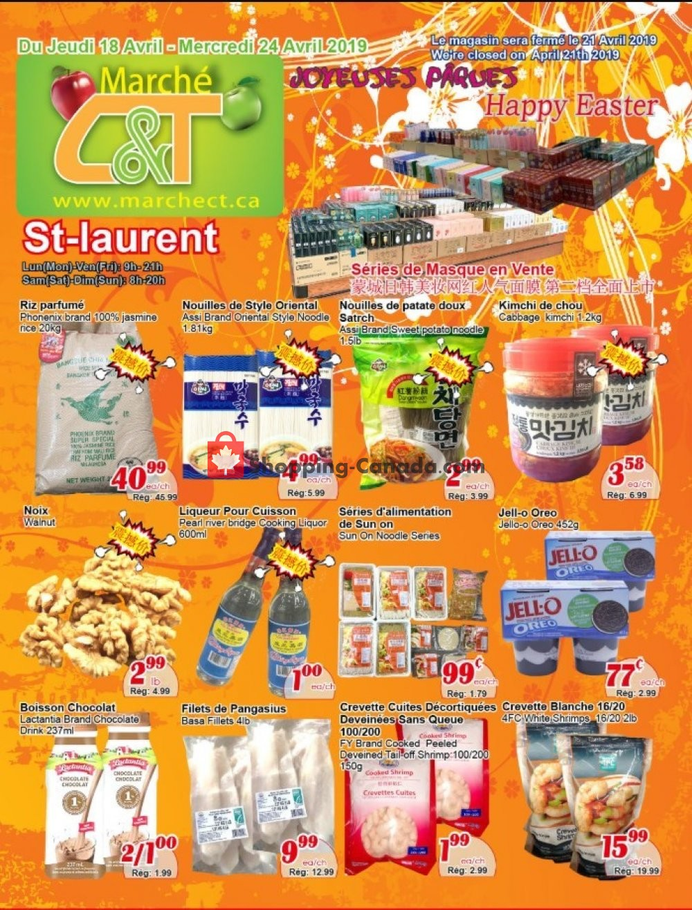 Flyer Marche C&T Canada - from Thursday April 18, 2019 to Wednesday April 24, 2019