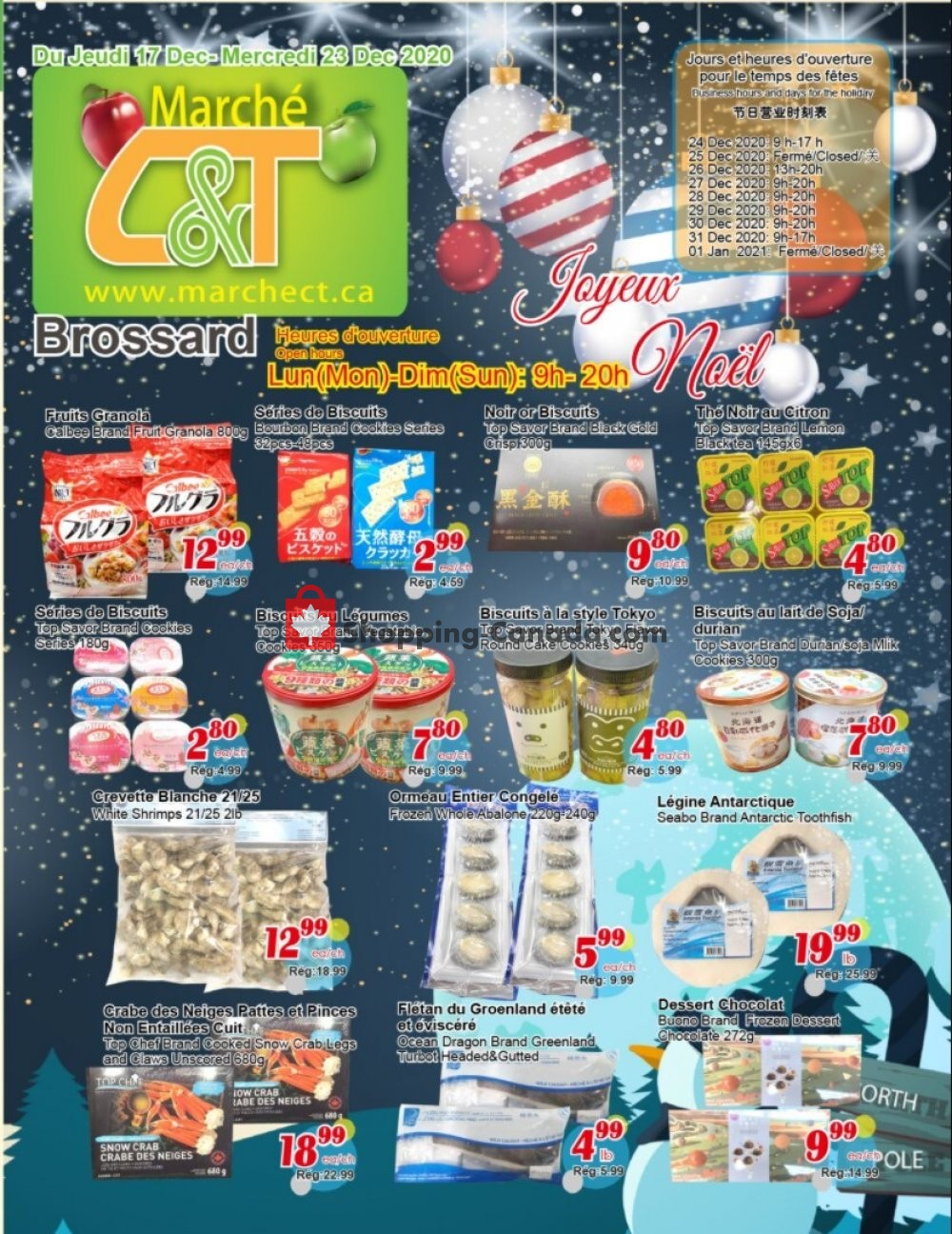 Flyer Marche C&T Canada - from Thursday December 17, 2020 to Wednesday December 23, 2020