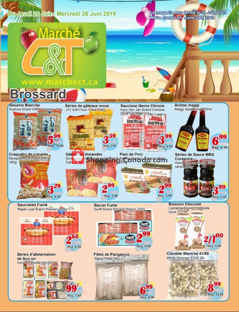 Flyer Marche C&T Canada - from Thursday June 20, 2019 to Wednesday June 26, 2019
