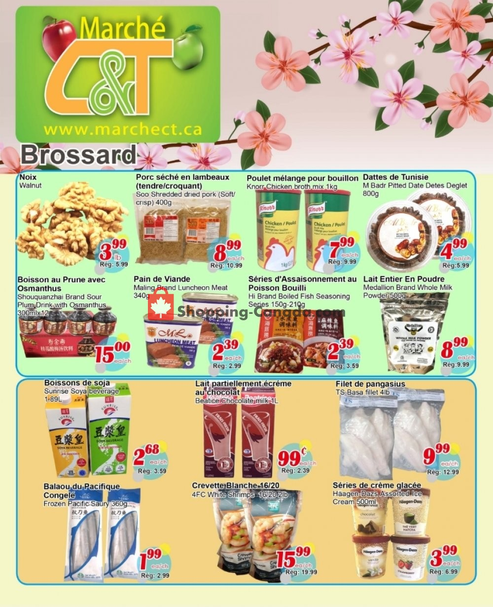 Flyer Marche C&T Canada - from Thursday May 9, 2019 to Wednesday May 15, 2019