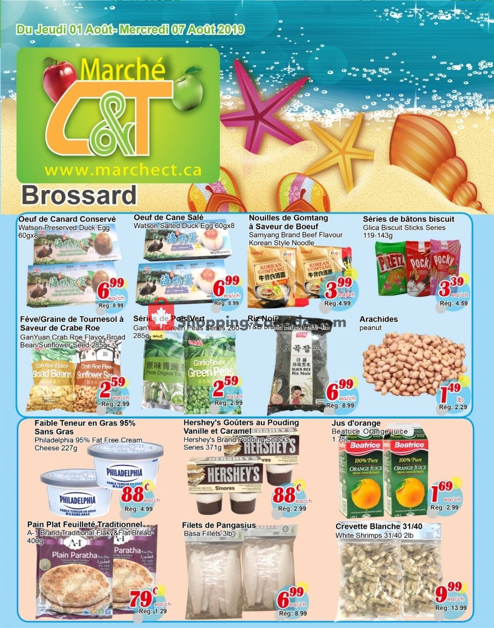 Flyer Marche C&T Canada - from Thursday August 1, 2019 to Wednesday August 7, 2019