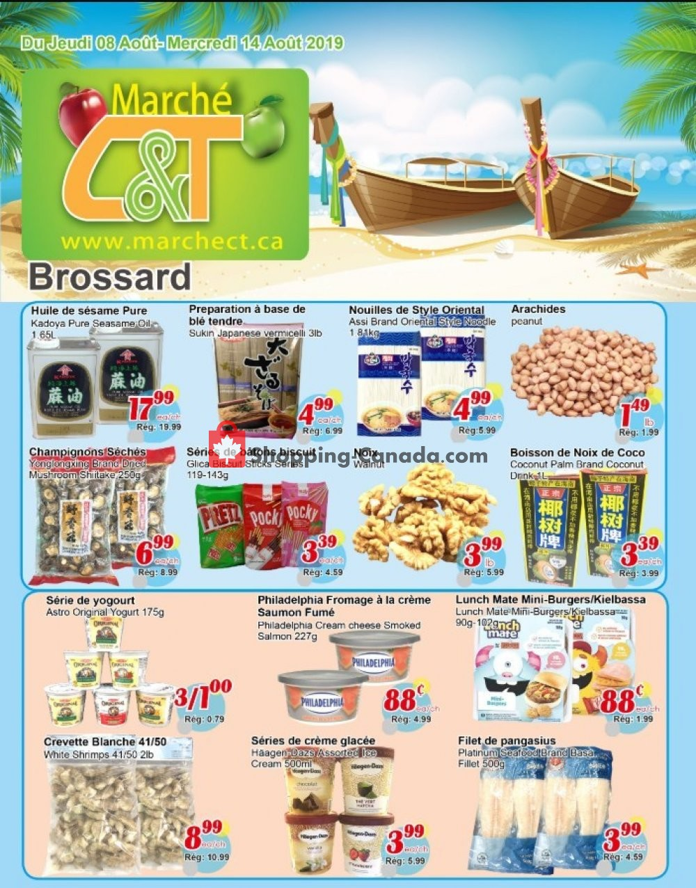 Flyer Marche C&T Canada - from Thursday August 8, 2019 to Wednesday August 14, 2019
