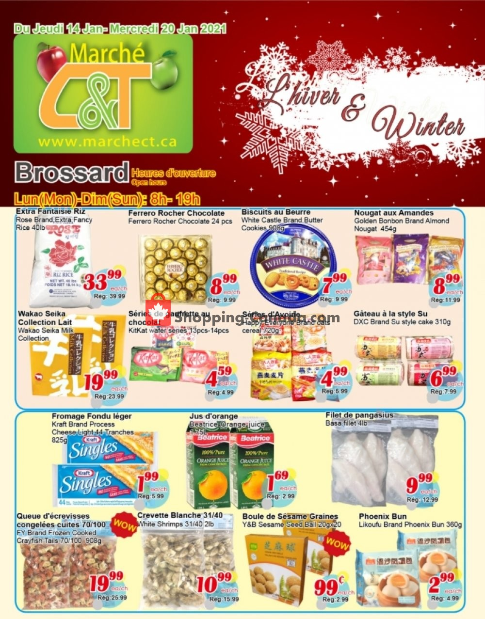 Flyer Marche C&T Canada - from Thursday January 14, 2021 to Wednesday January 20, 2021