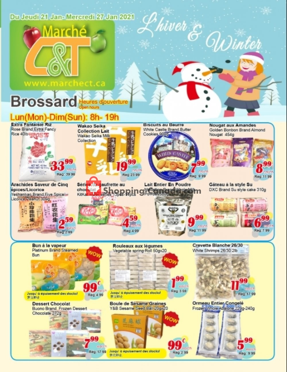 Flyer Marche C&T Canada - from Thursday January 21, 2021 to Wednesday January 27, 2021