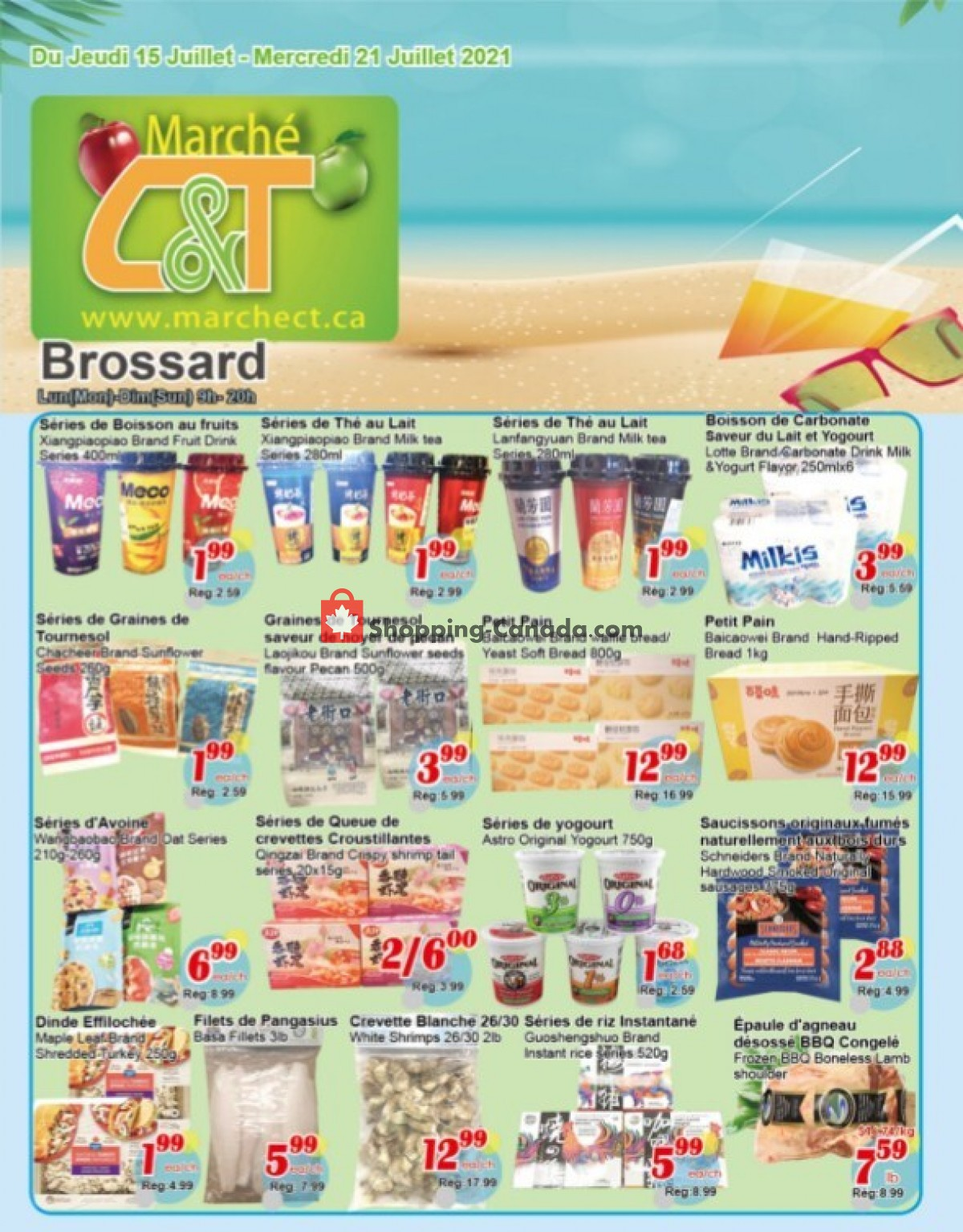 Flyer Marche C&T Canada - from Thursday July 15, 2021 to Wednesday July 21, 2021