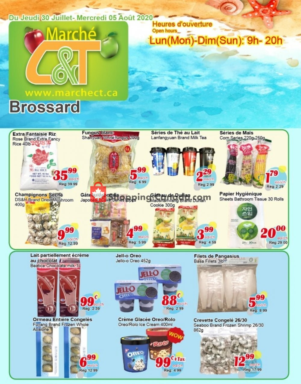 Flyer Marche C&T Canada - from Thursday July 30, 2020 to Wednesday August 5, 2020